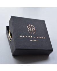 Whistle & Bango - Multicolor 'v' Alphabet 24ct Bangle Black - Lyst