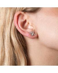 Leivan Kash - Metallic Dagger Mini Stud Earrings Silver - Lyst