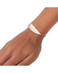 Leivan Kash - Multicolor Feather Chain Bracelet - Lyst