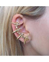 Leivan Kash - Metallic Dagger Ear Cuff Gold - Lyst