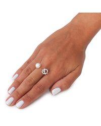 Leivan Kash - Metallic Gol Pearl Ring Silver - Lyst
