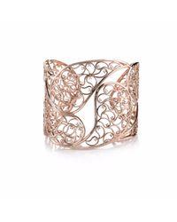 Sonal Bhaskaran - Metallic Amer Rose Gold Cuff Clear Cz - Lyst