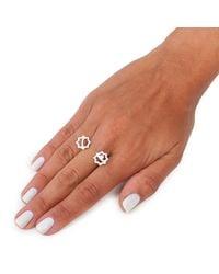 Leivan Kash | Metallic Gol Double Ring Silver | Lyst