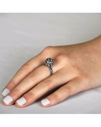 Sonal Bhaskaran - Black Svar Ruthenium Sphere Ring Clear Cz - Lyst