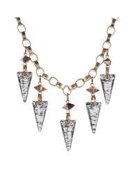 Nadia Minkoff - Metallic Crystal Shard Necklace Gold Patina - Lyst