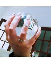 Latelita London - Metallic Cosmic Love Ring Silver - Lyst