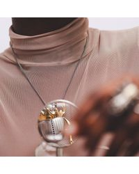 Yasmin Everley Jewellery | Metallic Gilded Scarab Necklace | Lyst