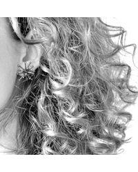 Mikinora - Metallic Jacks Earrings Silver - Lyst