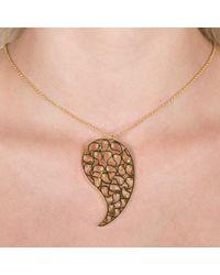 Sonal Bhaskaran - Metallic Jaali Gold Necklace Clear Cz - Lyst