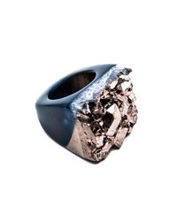 Tiana Jewel | Ember-metallic-rose-gold-ring-moro-collection | Lyst