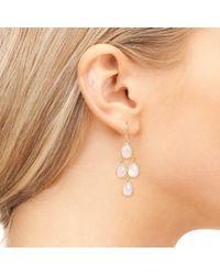 Latelita London - Metallic Mini Cascade Earring Gold Rose Quartz - Lyst