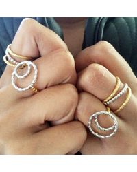 GFG Jewellery - Metallic Dafna Moon Ring - Lyst