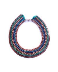 Miss High & Low - Blue Capri Necklace - Lyst