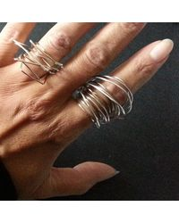 Linnie Mclarty - Metallic Wrapt Silver Ring - Lyst
