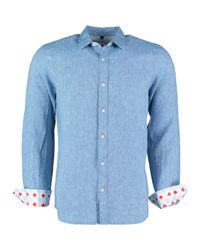 Tobias Clothing - Narmada Blue Linen Shirt for Men - Lyst