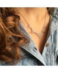 Agnes De Verneuil - Metallic Silver Necklace Tiny Jali - Lyst