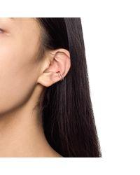 Astrid & Miyu - Multicolor Wishbone Ear Cuff In Rose Gold - Lyst