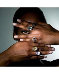 Nancy Rose Jewellery - Metallic Silver Ellipse Ring - Lyst