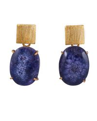 Magpie Rose - Purple Solar Quartz Earrings - Lyst