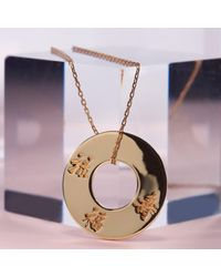 Liwu Jewellery - Metallic Three Lucky Stars Gold Plated Pendant Necklace - Lyst