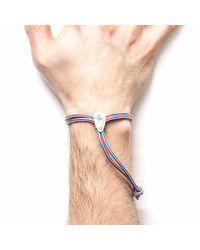 Anchor & Crew - Multicolor Project-rwb Red White & Blue Pembroke Silver & Rope Bracelet - Lyst