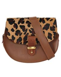 N'damus London - Brown Victoria Leopard Cross Body Bag - Lyst