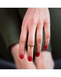 Ternary London - Metallic Ternary Timeless Gold Mid Finger Ring - Lyst
