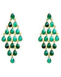 LÁTELITA London - Cascade Earring Green Onyx Gold - Lyst
