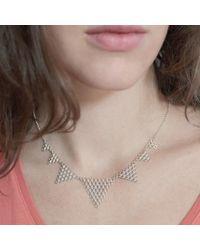 Agnes De Verneuil | Metallic Silver Necklace Jali | Lyst