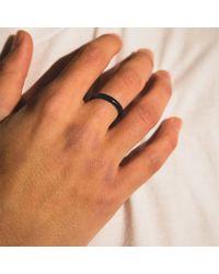 Serge Denimes - Black Gun Metal Stacking Ring for Men - Lyst