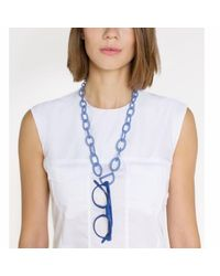 RASSIN & SHEN - Original D Eyewear Necklace N°3 Cornflower Blue Glasses Chain - Lyst