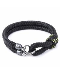 Anchor & Crew - All Black Great Yarmouth Silver & Rope Bracelet for Men - Lyst