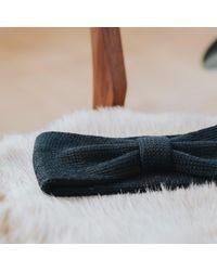 Alma Knitwear - Bow Merino Earwarmer Black - Lyst