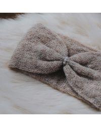 Alma Knitwear - Multicolor Daphne Alpaca Silk Earwarmer Beige - Lyst