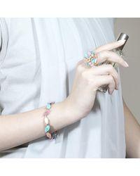 Cielle - Multicolor Pastel Spring Leaves Statement Bracelet - Lyst