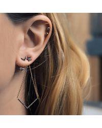 Jezebel London - Metallic Single Chelsea Stud Earring - Lyst