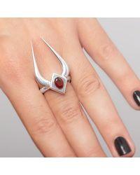 Ecrannium - Metallic Dragon's Horn Ring - Lyst