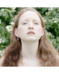 Cielle | Pastel Stone Teardrop Earrings Sky Blue | Lyst