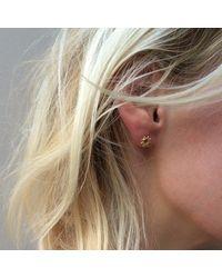 Agnes De Verneuil - Metallic Gold Stud Earrings Large Sun - Lyst