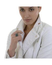 Alexandra Alberta | Green Galaxy Chalcedony Ring | Lyst