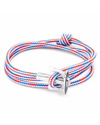 Anchor & Crew | Project-rwb Red White & Blue Union Silver And Rope Bracelet for Men | Lyst