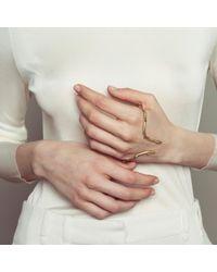 Nina Kastens Jewelry   Metallic Hand Cuff Chris Gold   Lyst
