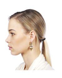 Carousel Jewels - Metallic Silver & Gold Mix Peacock Earrings - Lyst
