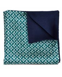 Louise & Zaid | Geometric Green Silk Pocket Square for Men | Lyst