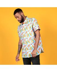 McIndoe Design - Blue Banana Print Shirt for Men - Lyst