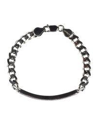 Latelita London - Metallic Mens Dog Tag Bracelet Oxidised Sterling Silver for Men - Lyst