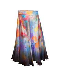 Klements - Blue Eglantine Skirt In Painters Print - Lyst