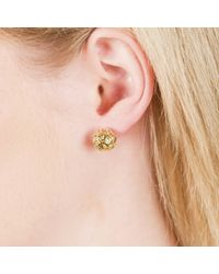 Sonal Bhaskaran | Metallic Svar Gold Sphere Earrings Clear Cz | Lyst
