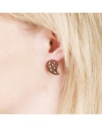 Sonal Bhaskaran | Multicolor Reya Rose Gold Paisley Earrings Yellow Cz | Lyst