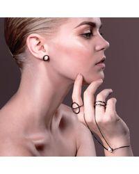 Cara Tonkin   Metallic Orbit Sphere Hand Bracelet Silver   Lyst
